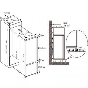 Холодильник Lex RBI 250.21 DF схема установки