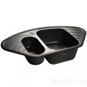 Мойка GranFest Corner GF-C960E Черный