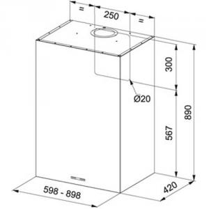 Вытяжка Franke FPL 906 W XS схема установки