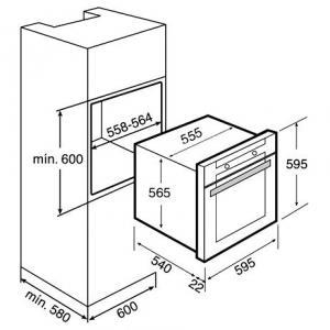 Духовка Teka HGR 650 антрацит схема установки