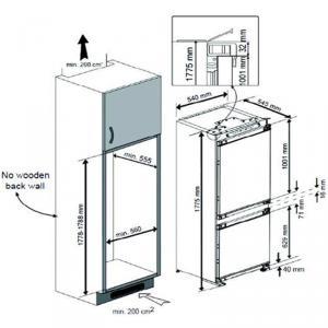 Холодильник Teka TKI4 325 DD схема установки
