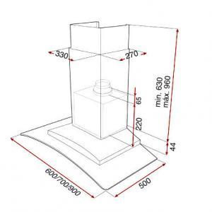 Вытяжка Teka NC2 90 стекло схема установки